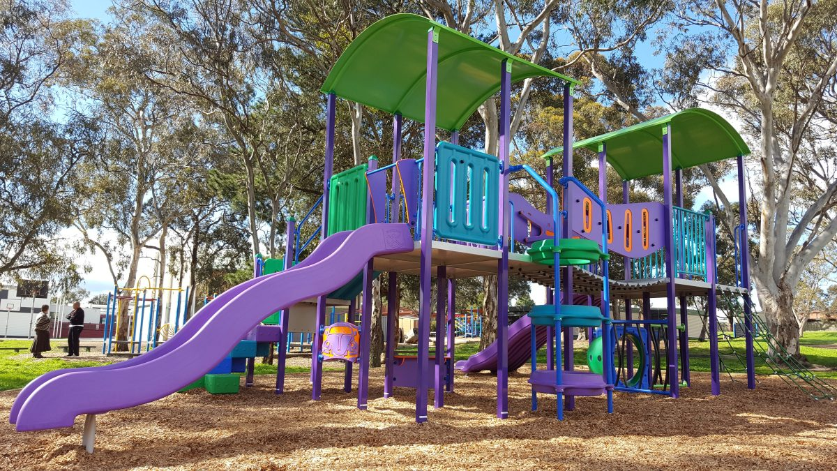 Playground Slides- A favourite playing place for kids
