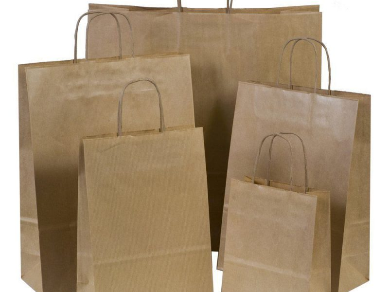 Paper Bags With Handles Buy On Wholesale