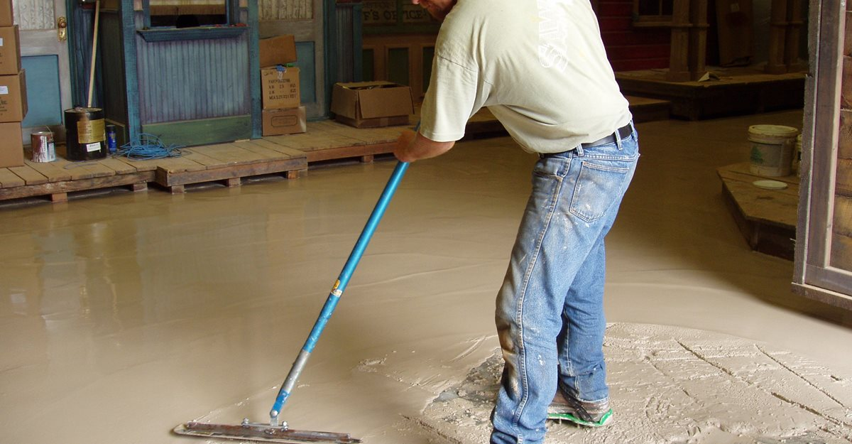 waterproofing the concrete floor or walls