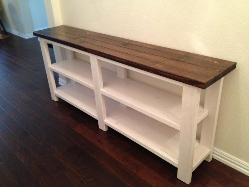 Creating Decorative Ideas And Designs With Rustic Console Table