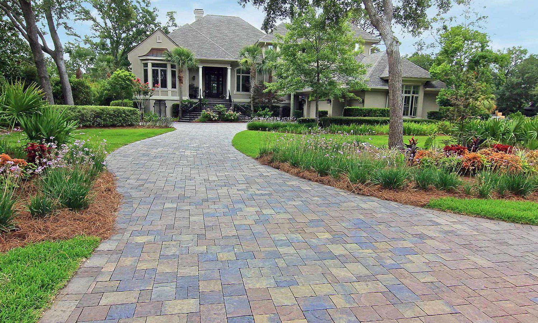 Concrete driveway pavers