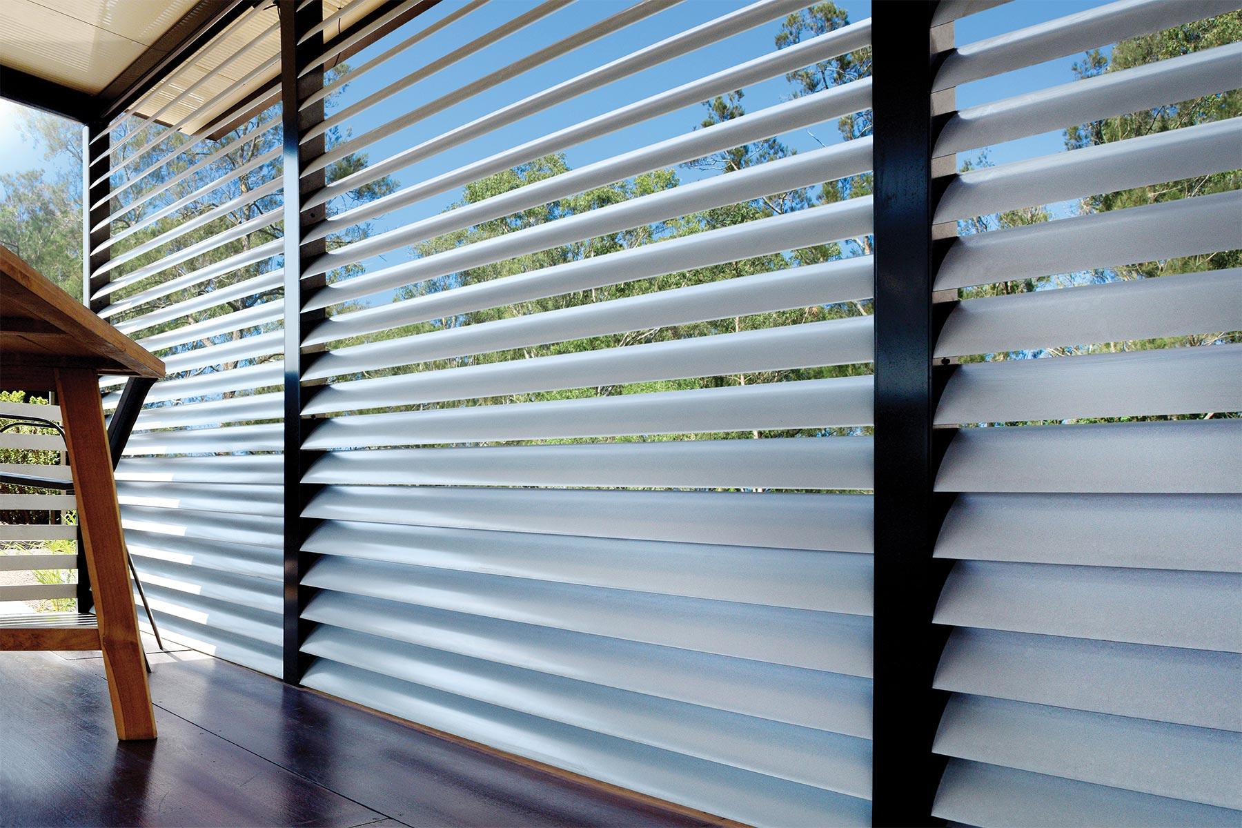 aluminium louvre panels